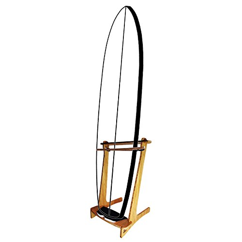 Bamboo Freestanding Vertical SUP Rack for 1 Paddleboard or Surfboard - Grassracks by Grassracks