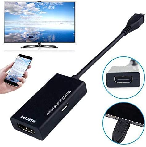 Ezyz Type C /& Micro USB Male to HDMI Female Adapter Cable for Cellphone Tablet TV