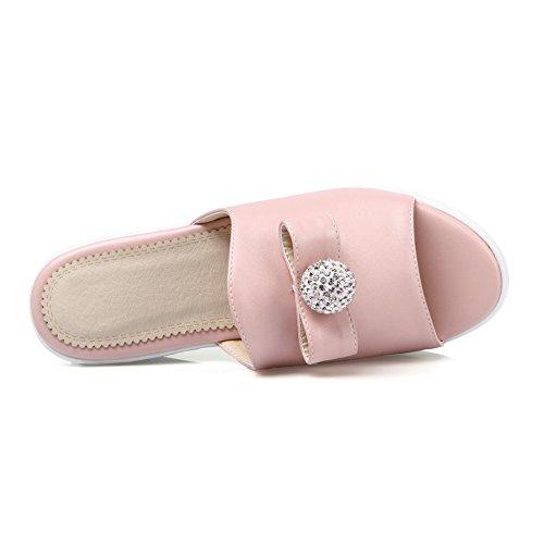 AdeeSu - Zapatillas de estar por casa para mujer Rosa