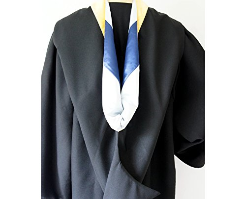 Graduation Bachelor Hood For Bachelor Degrees Silver   Blue  Golden Yellow  Sciences