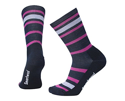 Smartwool Womens Striped Hike Light Crew Socks