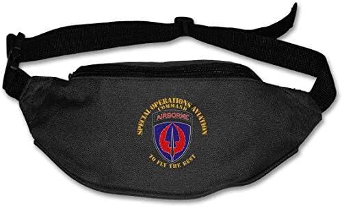 特殊作戦航空コマンドSsiユニセックス屋外ファニーパックバッグベルトバッグスポーツウエストパック