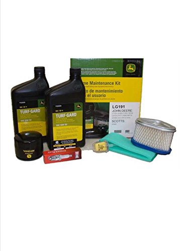 John Deere Maintenance Kit for LT133, LT150, LT155, LX173, LX255 SST15 GT225 Lawn Mower Filters, Oil LG191