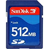 SanDisk 512MB Secure Digital Card (SDSDB-512, Hassle Free Package)