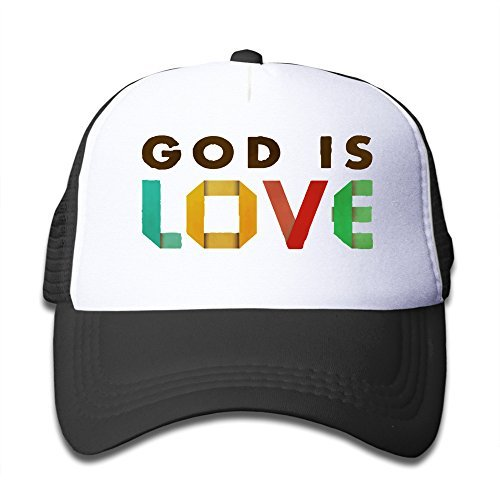 HNN Youth God Is Love Mesh Trucker Caps- Adjustable Hats
