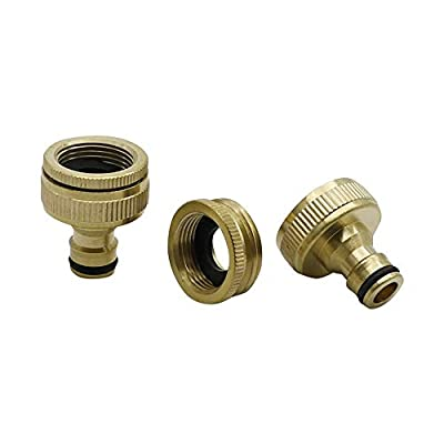 """BSNOVT Brass Nipper Quick Connectors Durable Material Garden Irrigation Parts Metal Joint 3/4"""" to 1"""" Male Thread 10 Pcs"""