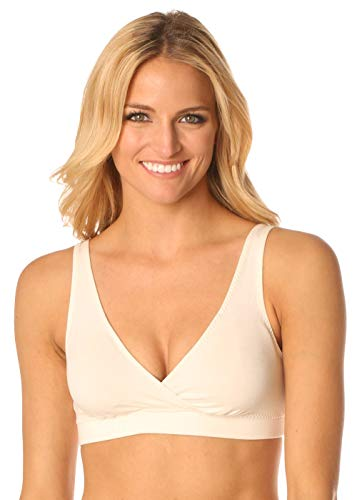 (Majamas The Organic Padded Daily Bra - Ivory - Large)