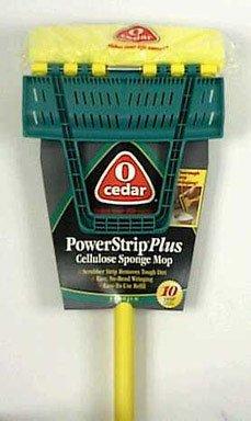 4 each: O Cedar Power Strip Plus Sponge Mop (118498) (Power Mop Sponge Strip)