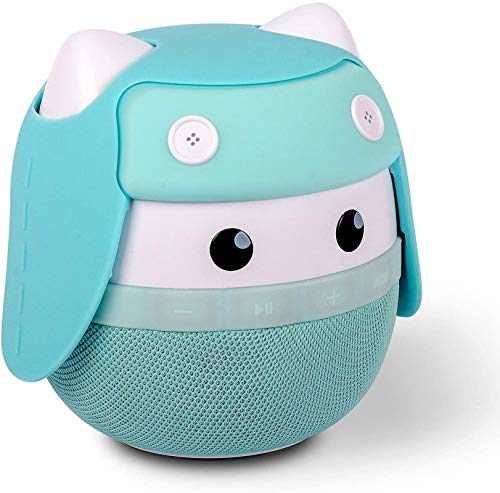 Portable Bluetooth Speaker Asimom Rhyme Stereo Pairing Speaker 15h Playing High Definition Sound Cute Wireless Speaker Ideal Gift For Girls And Kids Aqua Blue