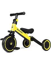 دراجة ثلاثية للأطفال 3 في 1 من كيوي كول للأطفال من عمر 1.5 إلى 4 سنوات مزودة بـ3 عجلات للأولاد والفتيات