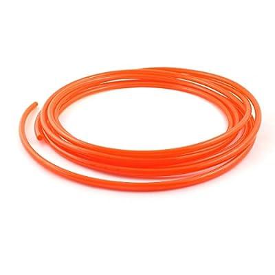 uxcell Orange 5m 16Ft 8mm OD 6mm ID Polyurethane PU Air Hose Pipe Tube