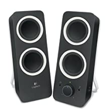 Logitech z200 Multimedia Speakers, Midnight Black