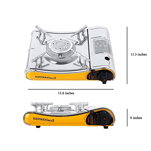 Suntouch High Powered Portable Gas Stove with Case ST-002A Yellow