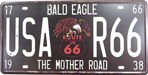 WholesaleSarong Bald Eagle USA R66 The Mother Road tin Sign Vintage car Metal Plate Bedroom Decorating Ideas -