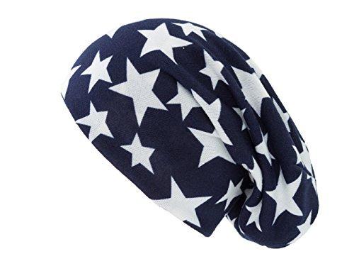 Azul Gorro con blancas punto estrellas de Unisex Shenky 4IqCq