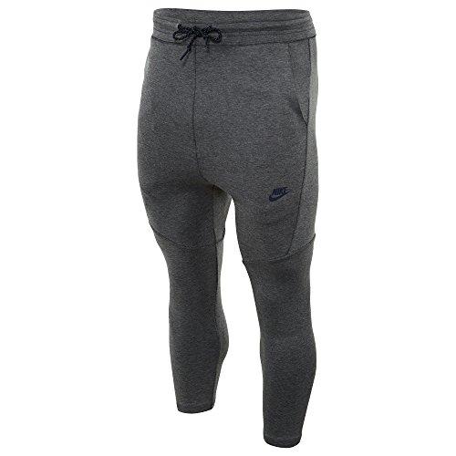 Nike Tech Fleece Cropped Men's Pants, Carbon Heather/Obsidian L