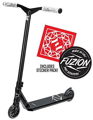 Fuzion Z250 Pro Scooters - Trick Scooter - Intermediate and Beginner Stunt Scooters for Kids 8 Years and Up, Teens and Adults - Durable Freestyle Kick Scooter for Boys and Girls (2020 - Black)
