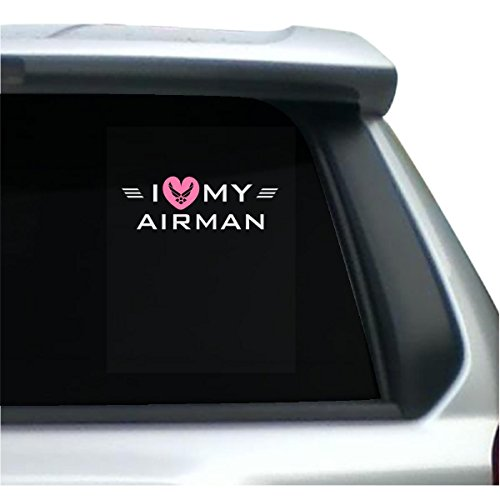 Love My Airman Great Gift For A Pilot Girl Girlfriend Wife - Sticker (Airmans Girl)