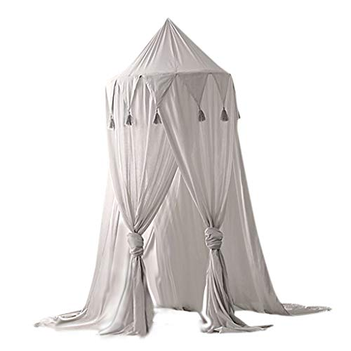 D DOLITY 모기 망 모기장 캐노피 공주 침대 ベビ?バル 멋 귀여운 전 3 색-회색 / D DOLITY Mosquito Net Canopy Princess Bed Baby Bar Stylish Cute All 3 Colors - Grey