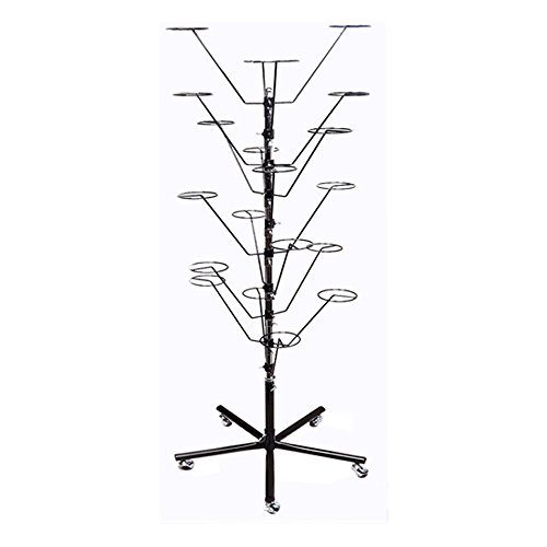 BLACK 10 Layers Revolving Rotating Hat Rack Clothes Rack Garment Hanger