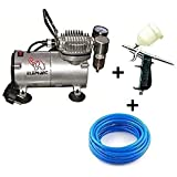 Painter Spray Gun (LABEL) Elephant Air Compressor with Artmaster Airbrush, 60 ml