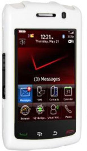 Amzer Polished Snap-On Crystal Hard Case for BlackBerry Storm 2 9550 - White (Case Blackberry Storm)