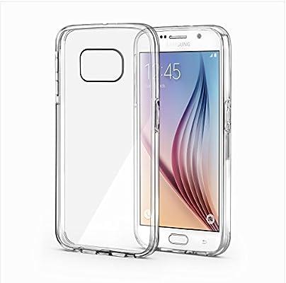 Galaxy S6 Funda - SAVFY® Samsung S6 Funda Carcasa Case TPU + PC Bumper Tope Shock- Absorción y Anti-Arañazos Borrar Espalda para Samsung Galaxy S6 + ...