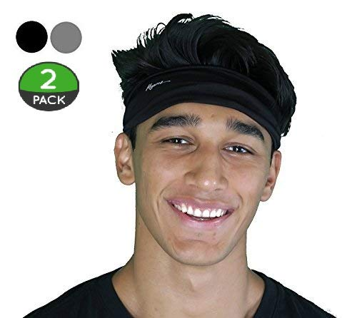 Mens Headband - Male Sweat & Sports Headband for Yoga, Running, Working Out and Crossfit - Ultimate Performance Stretch!