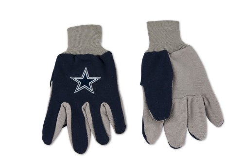 NFL Dallas Cowboys Two-Tone Gloves, Blue/Gray (Cowboys Mens Dallas Accessories)