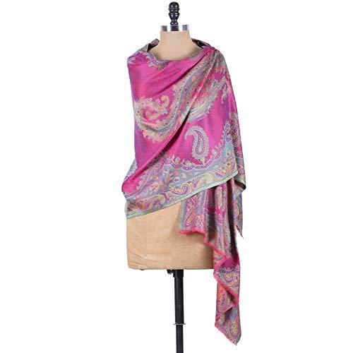 Shawl Silk Antique Scarf Wrap - Pashmina Shawls and Wraps - Lenzing Modal Paisley Pattern Cashmere Scarf