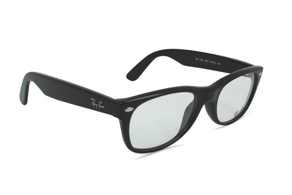 Ray-Ban New Wayfarer Square Eyeglasses,Shiny Black,52 mm
