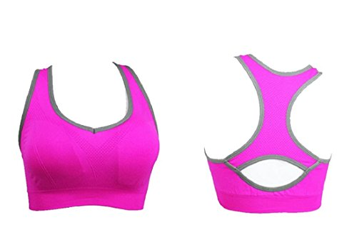 Soutien Rosa Gilet Sport Fitness Top Entraînement Caldo Yoga Exécution En gorge Femmes Amison Rembourré Gym Sportif 6Iad6qwO