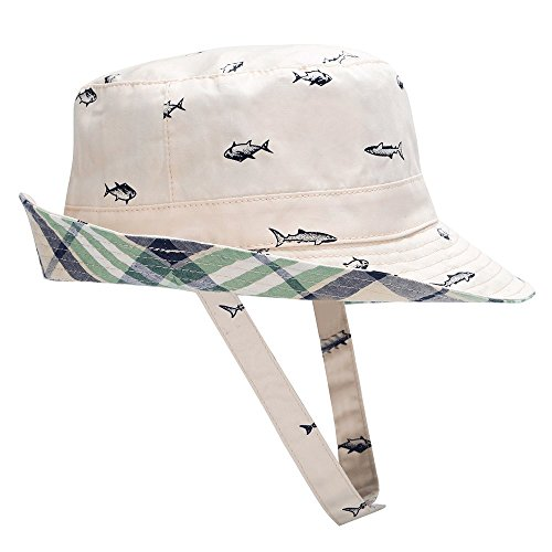 "Hisharry Baby Toddler Kids Boy Girl Bucket Reversible Sun Protection Animal Hat 19.6""(50cm)(12-24M)"
