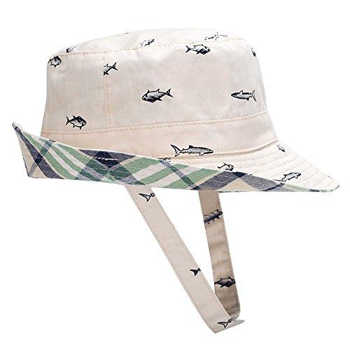 Hisharry Baby Toddler Kids Boy Girl Bucket Reversible Sun Protection Animal Hat ()