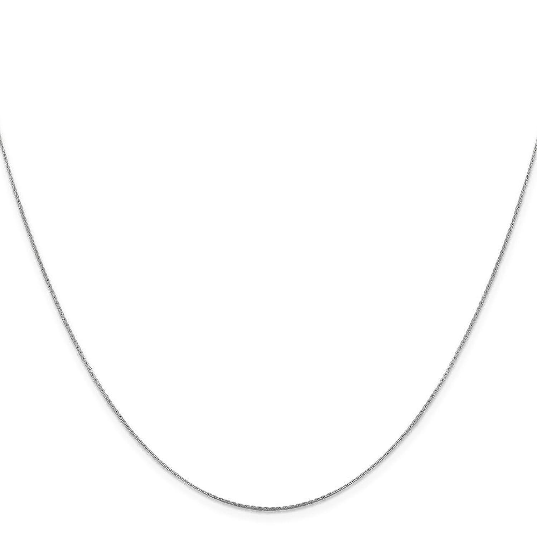 Best Birthday Gift Leslie 14K White Gold .6 mm Boston Link Chain
