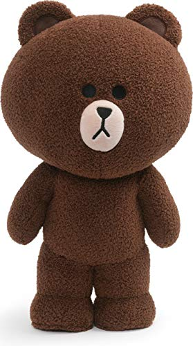 "GUND LINE Friends Brown Standing Plush Stuffed Animal Bear, Brown, 14"""