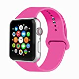 IYOU Sport Band Compatible with Watch Band 38MM 42MM 40MM 44MM, Soft Silicone Replacement Sport Strap Compatible with 2018 Watch Series 4/3/2/1
