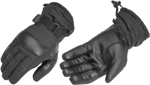 (River Road Gunnison Cold Weather Gloves , Distinct Name: Black, Primary Color: Black, Size: Md, Gender: Mens/Unisex, Apparel Material: Textile XF-09-3698)