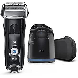 Braun 7880cc Series 7 Men's Electric Foil Shaver with Wet & Dry Integrated Precision Trimmer & Rechargeable and Cordless Razor with Clean&Charge Station