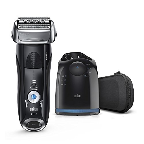 Braun Series 7 Men's Electric Foil Shaver with Wet & Dry Integrated Precision Trimmer & Rechargeable and Cordless Razor with Clean&Charge Station, 7880cc (Best Men's Body Razor)