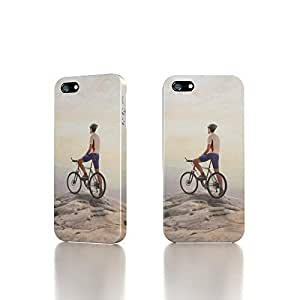 Apple iPhone 4 / 4S Case - The Best 3D Full Wrap iPhone Case - Riding On Mountain Top