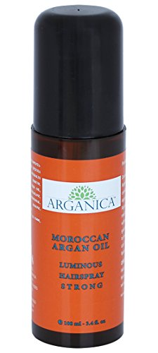 All-Natural Moroccan Argan Oil Luminous Hair Serum Strong (3.4 fl oz) - 100% Pure Argan Oil - Long Lasting, Flexible, Strong Hold - Restore Shine, Fight Frizz - All Hair Types - Paraben & Alcohol (Black Light Hairspray)