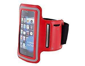 Adjustable Full Protection Armband Holder for Iphone 4g (Red)