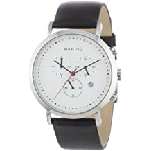 Bering Time 10540-404 Mens White Chronograph Watch