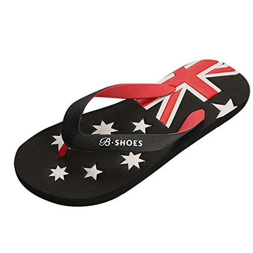 Sandalias De ALIKEEY Flip Bandera Deslizamiento Zapatos Americana Playa Zapatillas Negro Flops Hombres Anti vqx4vF8S