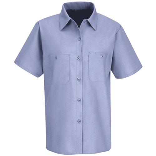 Red Kap Women's Industrial Work Shirt, Light Blue, Medium