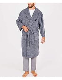 Men's Long Sleeve Cozy Soft Plush Shawl Collar Robe