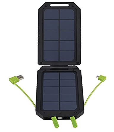 Cobra Compact Solar 6000 mAh USB 2.1 Amp Fast Charger Powerpack Powerbank for all USB Devices including Phone, Tablet, Speaker - CPP 100 SP