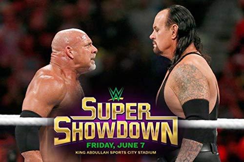Goldberg vs Undertaker WWE Saudi Arabia Match Poster 12 x 18 Inch Rolled Poster