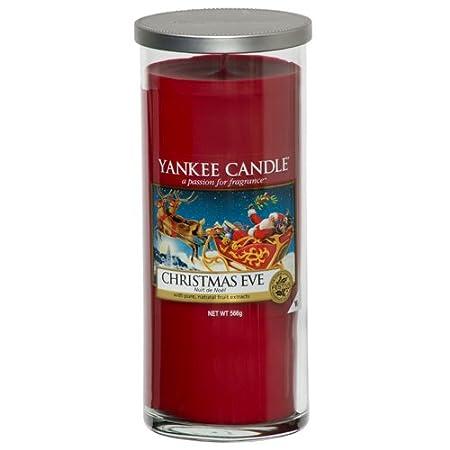 YANKEE CANDLE bougie colonne moyenne «Veille de Noël», rouge 1286812E